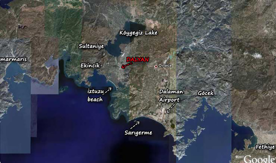 How to find Dalyan Keysan Yunus Hotel